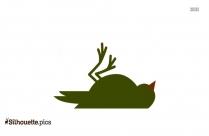 White Ibis Bird Silhouette Image