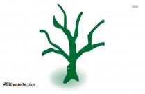 Dead Tree Symbol Silhouette