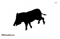 Cartoon Pig Clip Art Silhouette Image