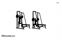 Dip Station Professional Gym Equipment Silhouette