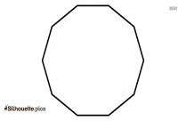 Decagon Silhouette Drawing