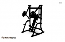Bench Press Muscles Silhouette Illustration