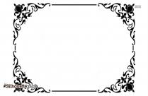 Decorative Border Silhouette Clip Art