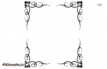 Decorative Border Symbol Silhouette Drawing