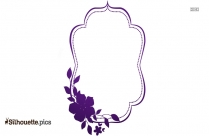 Decorative Flower Border Silhouette