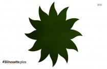 Sun Emoji Symbol Silhouette, Sunflower Icon