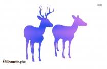 Black Deer Silhouette Image
