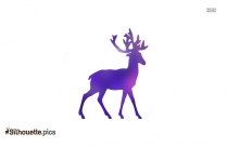 Tribal Deer Drawings Vector Silhouette
