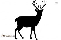 Male Deer Clip Art Silhouette