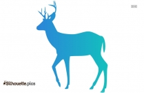 Deer Running Fast Silhouette Illustration