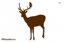 Beautiful Deer Antler Silhouette Illustration