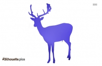 Rainforest Deer Silhouette Clip Art