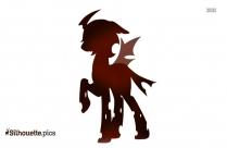 Demon Unicorn Silhouette