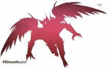 demon wings silhouette image