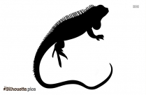 Cricket Lizard Silhouette Illustration