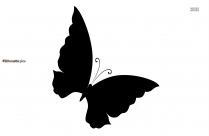 Morpho Butterfly Background Silhouette