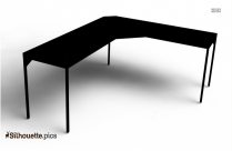Black And White Drawing Desk Silhouette