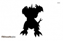 Cartoon Godzilla Silhouette