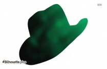 Detective Hat Silhouette Vector Image