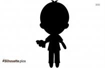 Sorry Boy Silhouette Free Vector Art