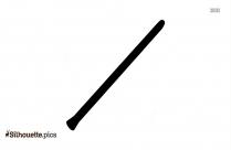 Black Vihuela Silhouette Image