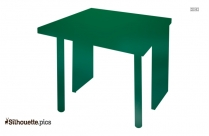 Table Vector Silhouette Image