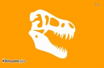 Dinosaur Head Cut Out Template Silhouette Clip Art