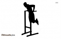 Dip Bar Station Exercise Silhouette Vector And Graphics