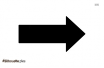 Directional Arrows Silhouette Image And Vector