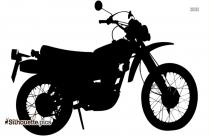 Dirt Bike Silhouette Vector