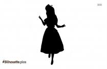Disney Alice Girl Silhouette Drawing
