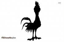 Cute Cartoon Farm Bird Silhouette Clip Art