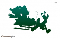 Disney Christmas Vector Silhouette Picture