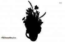 Disney Flowers Silhouette Free Vector Art