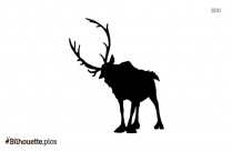 Disney Frozen Reindeer Silhouette Background