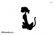 Cartoon Animal Unicorn Jumping Silhouette