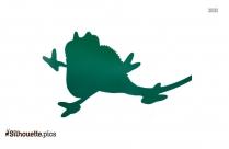 Cartoon Lizard Silhouette Free Vector Art