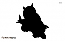 Cartoon Owl Silhouette Picture, Vector