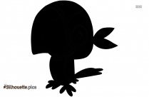 Funny Cartoon Chicken Silhouette