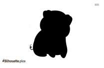 Cartoon Pig Silhouette Vector And Graphics