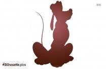 Disney Pluto Logo Silhouette For Download
