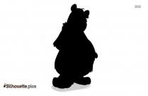 Polar Bear Cartoon Animal Silhouette