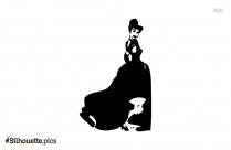 Cartoon Rat Princess Silhouette Image