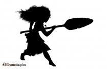 Disney Princess Moana Drawing Silhouette