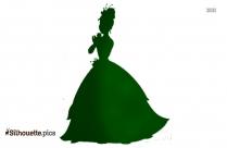 Princess Aurora Black And White Silhouette