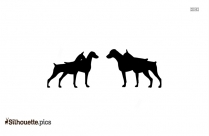 Rough Collie Silhouette Black And White