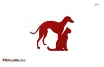 Poodle Dog Silhouette Clip Art Image