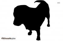 Puppy In Love Silhouette Illustration