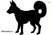 Sitting Pit Bull Puppy Silhouette