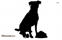 Boxer Dog Silhouette, Dog Ready To Attack Clip Art